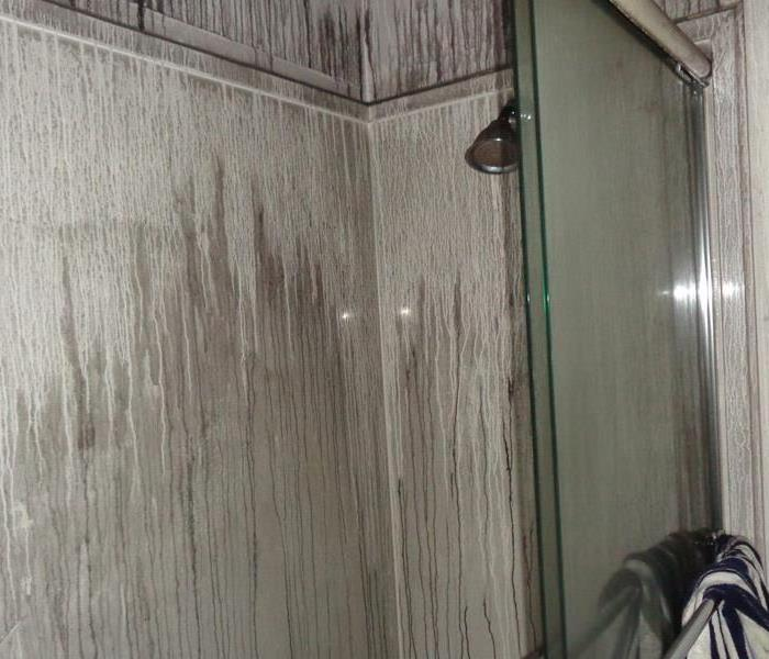 Fire damage in home that causes soot in bathroom